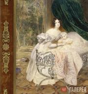 К.П.БРЮЛЛОВ. Портрет М.И.Бутеневой с дочерью Марией. 1835