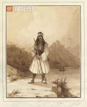 Айвазовский Иван Константинович. Паликар на Афонской горе. 1845