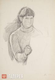 Жилинский Дмитрий. Автопортрет. 1972