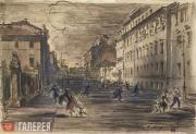 В.С. Алфеевский. Москва. Тревога. 1945