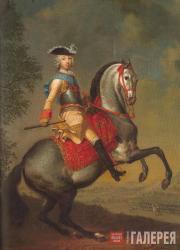 Георг Христоф ГРООТ. Конный портрет великого князя Петра Федоровича