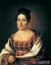 М.А.ВАСИЛЬЕВ. Портрет Н.Т.Басниной. 1824