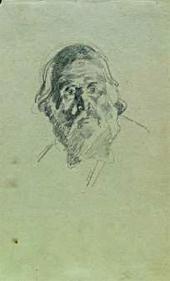 Голова апостола Петра. 1863. Набросок