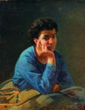 Портрет неизвестной в голубой блузе. 1868