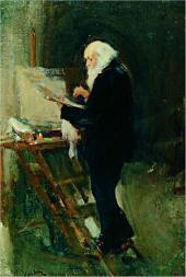 Н.П. УЛЬЯНОВ. Художник Н.Н. Ге за работой. 1895