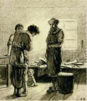 H.H. ГE. «Простите хозяева. Меня Бог простил. Простите и вы». 1886