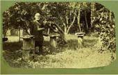 O.H. Ге (?) на пасеке. Хутор Ивановский. 1880-е
