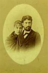 П.Н. и Е.И. Ге. 1883