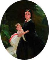 Портрет Шестовой с дочерью. 1859