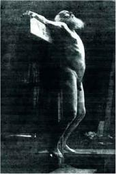 H.H. Ге в позе распятого Христа. Хутор Ивановский. Март 1892