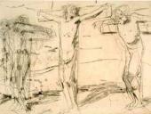 На обороте:  Распятие. Эскиз неосуществленного варианта картины 1893 года
