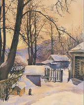 На дворе зимой. 1885