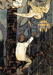 Утки спасают Филипко. Иллюстрация к сказке «Сынко-Филипко». 1896–1897