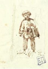 Мальчик, несущий обед в поле. Ольшанка. Конец 1870 – начало 1880-х