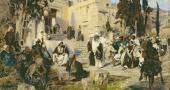 Христос и грешница. 1885. Эскиз