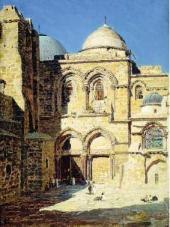 Фасад храма. Гроба Господня. 1882