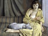 Девушка с белой собакой. 1950–1951