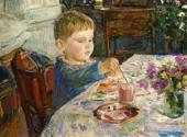 А.А. ПЛАСТОВ. Внук рисует. 1959–1960