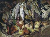 Константин КОРОВИН Рыбы, вино и фрукты. 1916