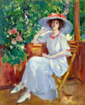 Портрет  актрисы Н.И. Комаровской. Около 1911