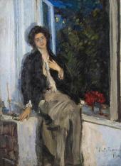 Портрет Н.И. Комаровской. 1914