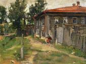 Уголок провинции (Улица в Переславле). 1905