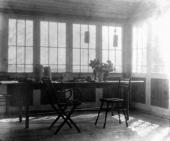 Терраса охотинского дома К.А. Коровина. Фотография. 1910-е
