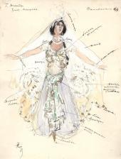 К.А. КОРОВИН. Шемаханская царица. 1909 Эскиз костюма к опере