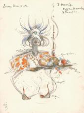К.А. КОРОВИН. Слуга Шемаханский у палатки. 1909