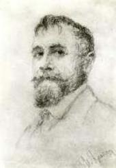 К.А. Коровин. Фотография с рисунка И.К. Крайтора. 1910-е