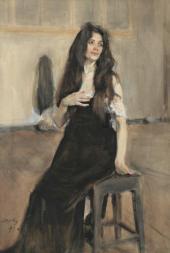 Натурщица с распущенными волосами. 1899
