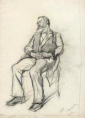 Таньон, спящий на стуле. 1884