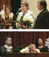 Лауреаты премии имени П.М.Третьякова 2011 года Е.А.Гра и Н.Г.Дивова