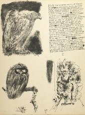 Лист из книги Pablo Picasso. Poèmes et Lithographies
