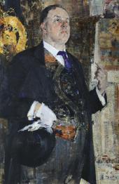 Портрет Давида Бурлюка. 1923