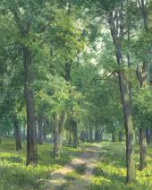 Сергей АНДРИЯКА. Старый липовый парк. 1996. Фрагмент