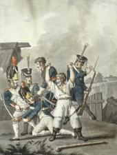 И.Ф. ТУПЫЛЕВ. Схватка русского крестьянина с французскими солдатами. 1813