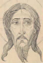 М.В. НЕСТЕРОВ ГОЛОВА ХРИСТА. ЭСКИЗ МОЗАИКИ ЗАПАДНОГО ФАСАДА ЦЕРКВИ ПОКРОВА
