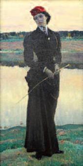 ПОРТРЕТ ОЛЬГИ МИХАЙЛОВНЫ НЕСТЕРОВОЙ («АМАЗОНКА»). 1906