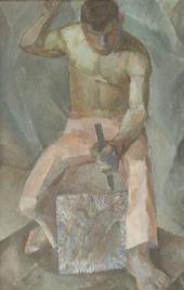 НЕИЗВЕСТНЫЙ ХУДОЖНИК XX ВЕКА (Ю.А. Васнецов ? 1900-1973). КАМЕНОТЕС. 1926