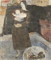 ЕКАТЕРИНА СТЕПАНОВНА ГАСКЕВИЧ. 1905–1994. ПРАЧКА. (ЖЕНЩИНА С РЕБЕНКОМ). 1925