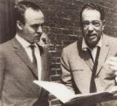 ДЮК ЭЛЛИНГТОН И АЛЕКСЕЙ ШМАРИНОВ. НЬЮ-ЙОРК. Фотография. 1964