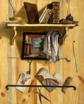 Трофим УЛЬЯНОВ. Натюрморт с книгами. 1737