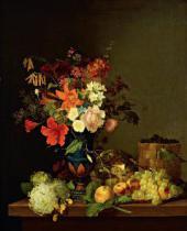 Ф.Г. ТОРОПОВ. Натюрморт. Цветы и плоды. 1846