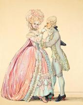 К.А. СОМОВ. Как одевались в старину (Дама и кавалер). 1903