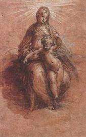ПАРМИДЖАНИНО. МАРИЯ НА ОБЛАКАХ С МЛАДЕНЦЕМ ИИСУСОМ. 1526–1527