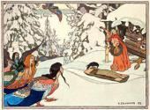 Иван БИЛИБИН. Баба-Яга и девы-птицы. 1902