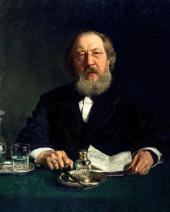 И.E. РЕПИН. Портрет И.С. Аксакова. 1878