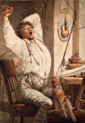 Михаил (Михай) ЗИЧИ. За чтением. Молодой человек («Утро»). 1867
