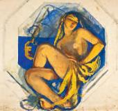 Зинаида СЕРЕБРЯКОВА. Одалиска (Индия). Около 1915